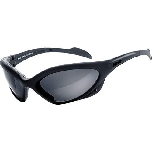 HELLY® - No.1 Bikereyes® | Bikerbrille, Motorradbrille, Motorrad Sonnenbrille | TESTSIEGER: winddicht, gepolstert, beschlagfrei, bruchsicher | Super Tragegefühl bei langen Ausfahrten | Brille: speed king 2
