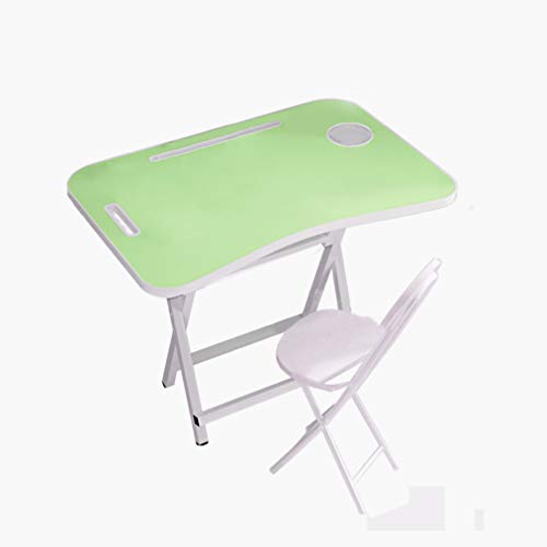 LXP Portable Desk, Kids Folding Table And Chairs Kids Table And Chair Set Modern Colors,fruit green