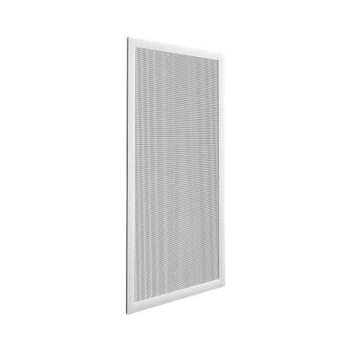 Mosquitera Corredera Mini para Ventanas - Set de Montaje, perfiles de alumínio y Malla de Fibra de Vidrio/ Color Blanco, 70 x 130 cm