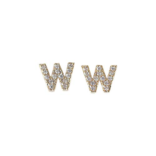 jieGorge Earrings, Letter Earrings for Women Girls Initial Stud EarringLdurian Earrings for Women, Jewelry for Women Gifts (W)