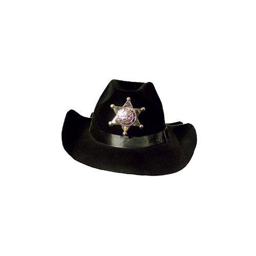 P 'tit Clown 90652Hut Filz Sheriff Erwachsene–Schwarz