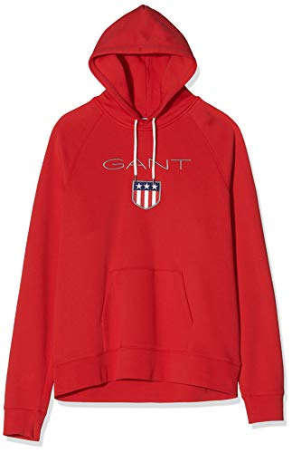 GANT Herren Shield Sweat Hoodie Kapuzenpullover, Rot (Bright Red 620), Small