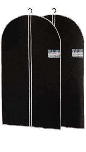 ASIS nettrade Kleidersäcke Kleiderschutzhüllen - 6 Stück - 150 cm lang x 60 cm breit - Farbe: schwarz