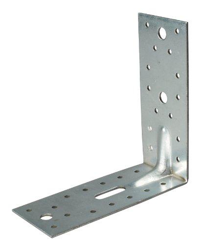 GAH-Alberts 335724 SL-Winkelverbinder Sicke, sendzimirverzinkt, T x H x B 150 x 150 x 65 mm, Materialstärke: 2.5 mm, 25 Stück