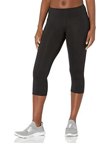 Hanes Women's Sport Performance Capri Legging, Ebony, X-Large