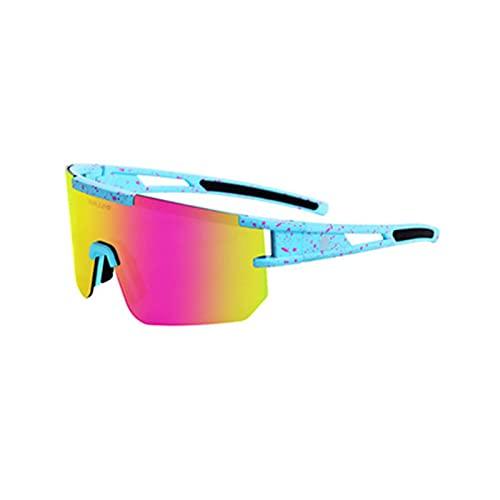 HGJINFANF Sky Blue Powder Dot Polarized Sports Sw Sunglasses, Adecuado for Hombres y Mujeres Gafas de Ciclismo, Adecuado for Bicicleta de montaña UVA y UVB Proteccion
