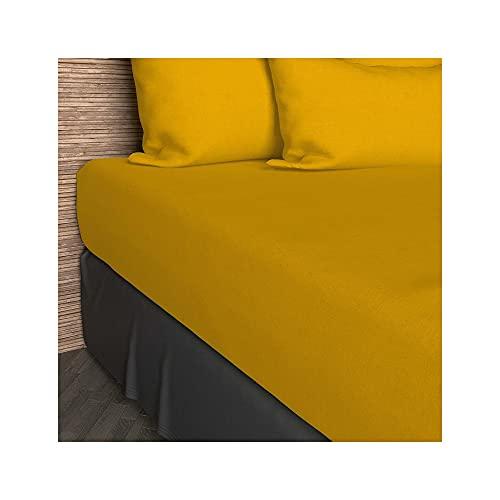 Soleil d'ocre Sábana Bajera 90x200 cm de algodón SO Amarilla