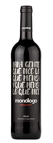 Monólogo Crianza, Wein, Trocken, 14% Alkohol (6 x 0,75l Flasche) - Trockener Rotwein feinster spanischer Tempranillo Weinreben