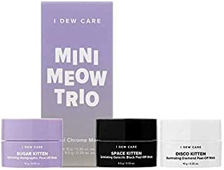 I DEW CARE Mini Meow Face Mask Trio Set - Korean Face Masks To Use As Pore Minimizer, Blackhead Mask, Hydrating Face Mask, Face Mask Set, All You Need For Your Skin Care, Cruelty-free, Paraben-free