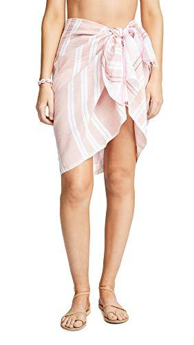 Mel Lemlem Women's Doro Sarong, Light Coral, Pink, Stripe, One Size