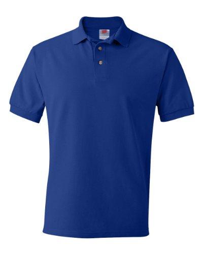 Hanes Herren Poloshirt, Blau, 055X