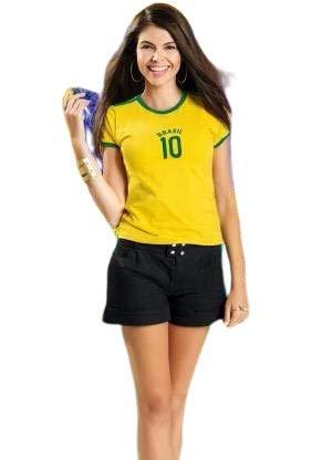 Camisa Brasil Feminina - nº 10