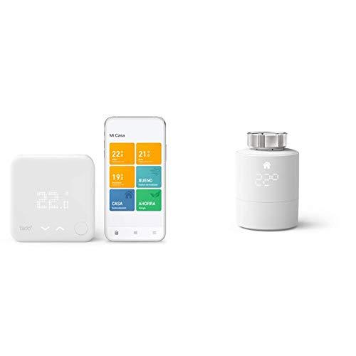 tado° Smartes Thermostat (Verkabelt) Starter Kit V3+ - Intelligente Heizungssteuerung + Smartes Heizkörper-Thermostat (Universelle Anbringung) - Zusatzprodukt für Einzelraumsteuerung