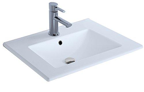 Cygnus Bath 1100116191 Lavabo cerámico (70 cm), Blanco Brillo