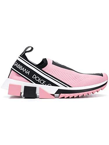 Luxury Fashion | Dolce E Gabbana Donna CK1595AH6778B405 Rosa Sneakers | Primavera Estate 20