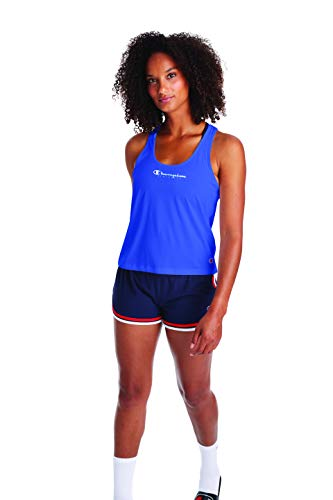 Champion Camiseta deportiva con espalda cruzada para mujer - azul - X-Large