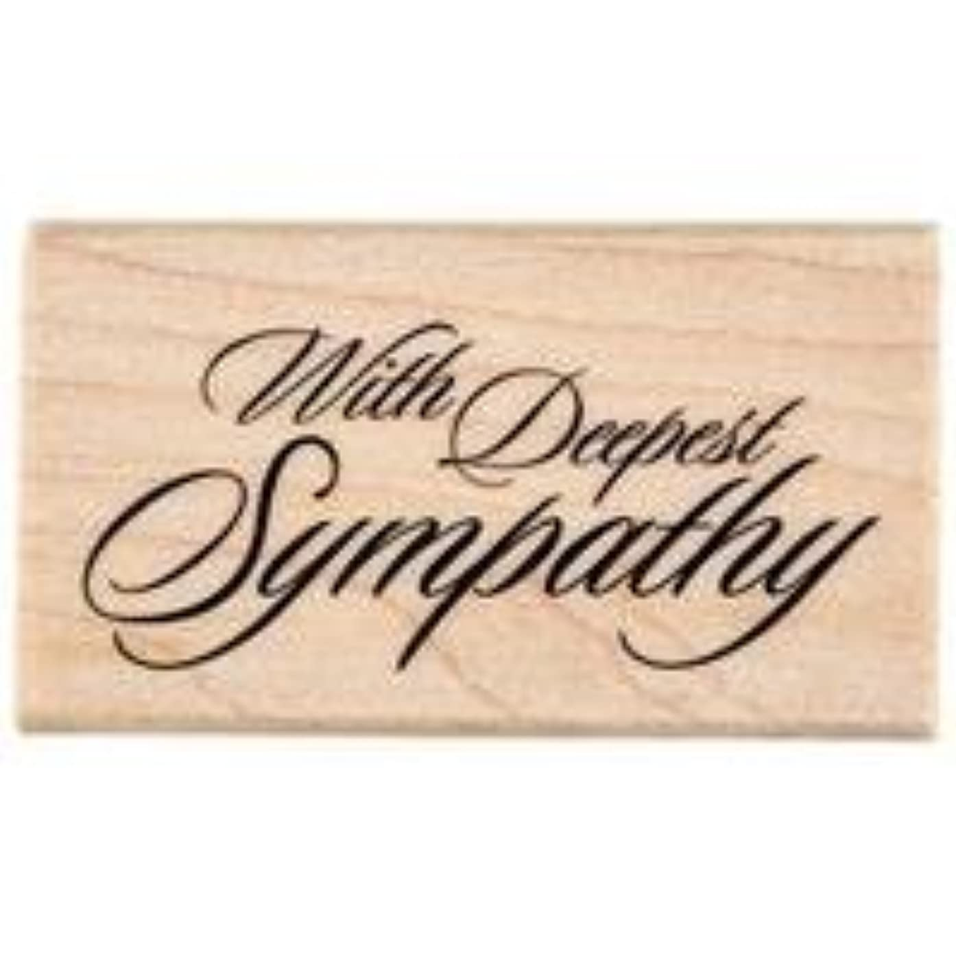 With Deepest Sympathy Rubber StampNew by: CC