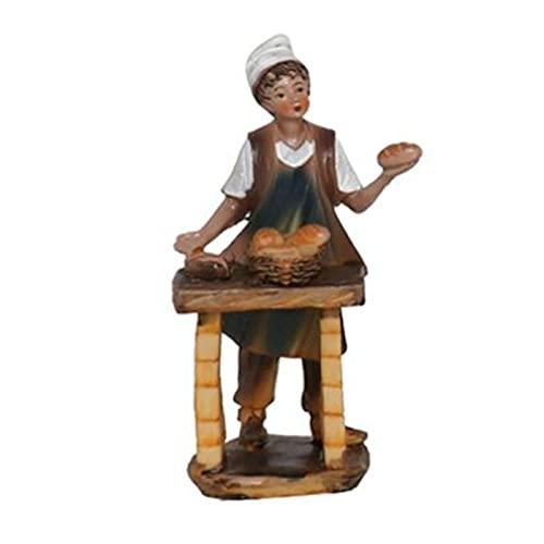 Acan Figura para belén navideño de un Oficio 15 cm, Resina, Figura Decorativa Nacimiento, Pesebre, Navidad, decoración Tradicional, Modelo Surtido (1 ud)
