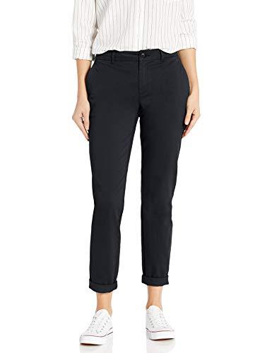Amazon Brand - Goodthreads Women's Mid-Rise Girlfriend Chino Pant, Washed Black 4