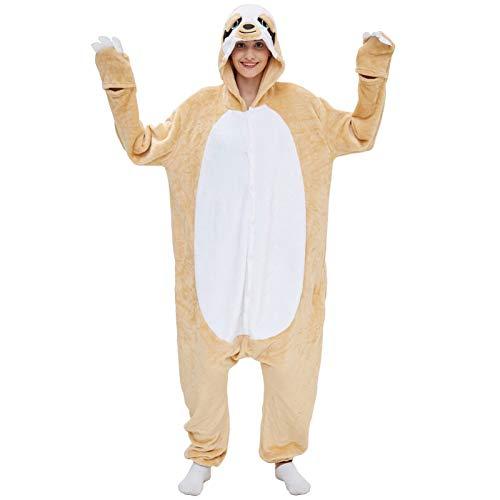 Wsaman Ropa Dormir para Adultos, Pijama De Animales Dibujos Animados De Pereza Disfraz Cosplay Casero Lindo Femenino Pijama Animales De Franela,M
