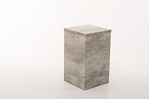 Hermes24 Beistelltisch Blumenhocker Sofatisch Ablage BHBN50 B/T/H 30 x 30 x 50 cm Beton Natur