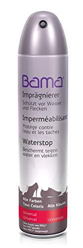 Bama Unisex-Erwachsene Imprägnierspray, Universalspray schützt Schuhe vor Wasser, für gleichmäßiges Auftragen, Imprägnierer für alle Farbe Schuhpflegeprodukt, Farblos, 400 ml