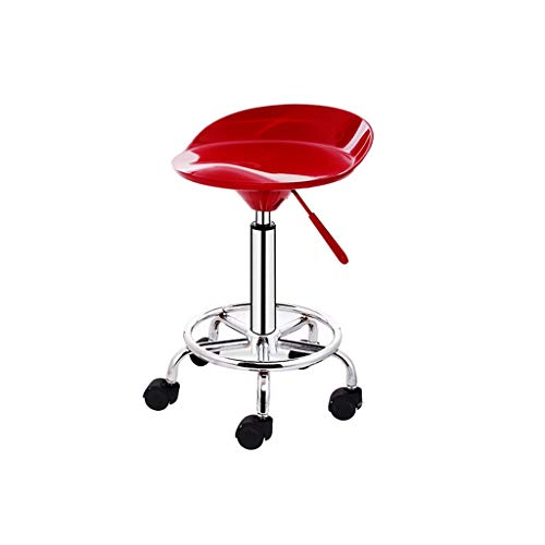 XXHJWXCM E-Sports Gaming Chairs Silla De Oficina Giratoria Taburete De Trabajo Bar Altura Ajustable con Respaldo Ergonómica (Color : Red)