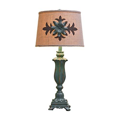 Lámparas de mesa, lámpara de noche, dormitorio, mesita de noche, lámpara de estudio, salón, dormitorio, retro, resina, lámpara de noche, lámpara de escritorio LED (color A)