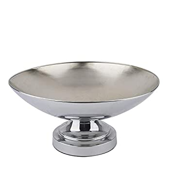 BalsaCircle 15-Inch Tall Silver Compote Bowl Centerpiece Pedestal Table Vase - Wedding Party Table Home Decorations