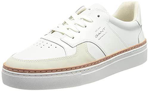 GANT Footwear Herren Mc Julien Cupsole Low Sneaker, Bright White, 44 EU