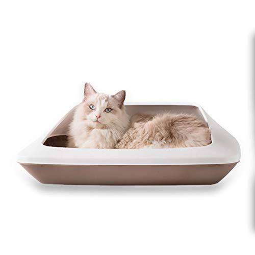 Caja de arena para gatos Semicerrado caja de arena, higiénico a prueba de salpicaduras, las grandes fuentes del gato, heces caja de arena, arena for mesa de arena del gato Pan Muebles de caja de arena