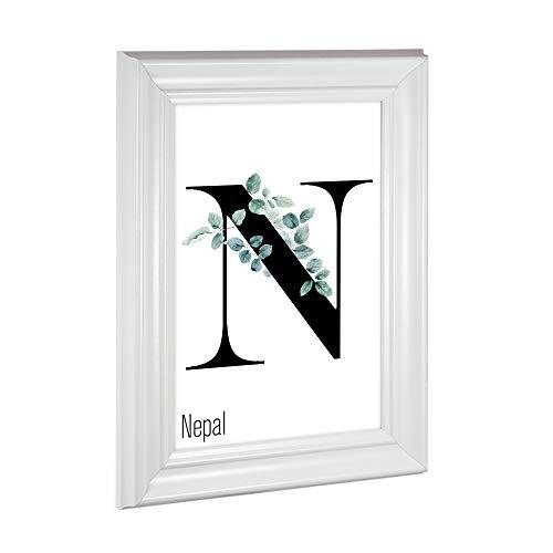 Bilderrahmen Barockrahmen Nepal 50x70cm (PUZZLEFORMAT) Weiß (matt)