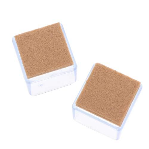Hemoton 20 Stück Silikon-Stuhlbein-Bodenschoner Möbel-Silikonschutz Möbelbeinkappen mit Anti-Rutsch-Filz-Pads für Schlafsaal, Schlafzimmer, Zuhause, 25 x 25 mm, transparent