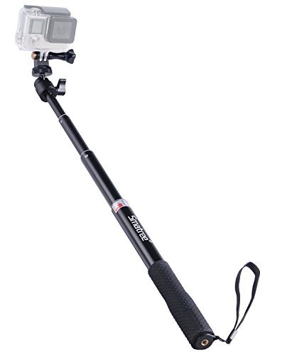 Smatree Extendable Aluminum Selfie Stick/Monopod Compatible for GoPro Max/Hero 9/8/7/6/5/4/3+/GOPRO...