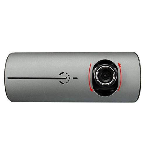 Registrador de La Conducción 2,7 Pulgadas de Alta definición con Doble Objetivo Coches DVR Dash CAM Video Recorder G-Sensor GPS (Color : Black, Size : One Size)