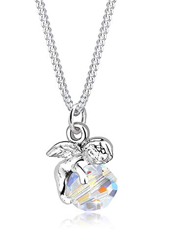 Elli Halskette Damen Engel mit Swarovski® Kristall in 925 Sterling Silber