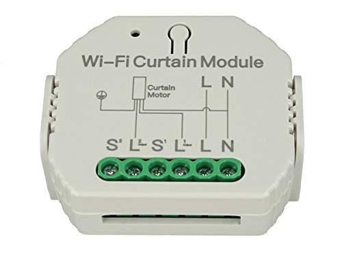 LEDLUX SH108 WiFi-Rollladen-Modul Smart Switch 220 V 2 A für elektrische Jalousien mit App TUYA Smart Life kompatibel mit Alexa und Google Home
