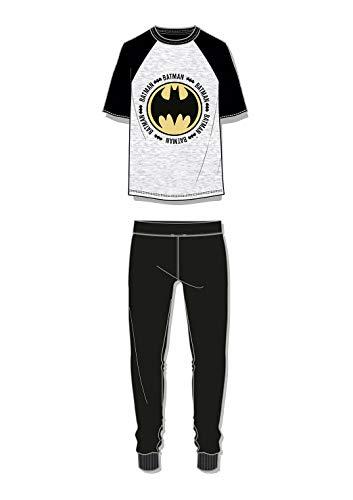 F4S® DC Comics Herren Pyjama-Set, Batman/Star Wars/Superman, lang, S-XL Gr. M, Schwarz Batman