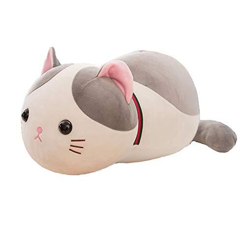 JWShang - Cojín para sofá de gato elástico, cómodo para decoración del hogar, para habitación de niños o niñas, cojín con forma de gato relleno de almohada de animal