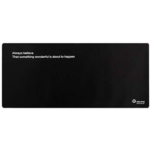 Eligoo Gaming Mouse Pad Extended XXXL Large Customized Words Black Mouse Mat - 900x400mm Dimension