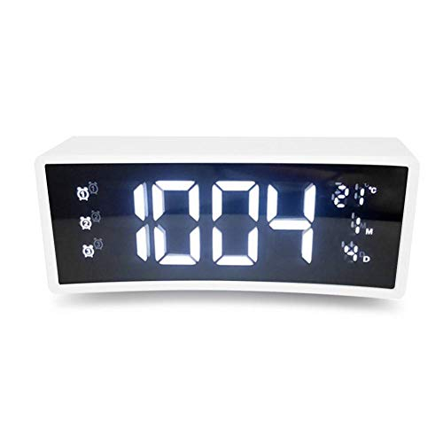KBDCP 3D Alarm Klok LED Display Snooze Functie Gebogen Oppervlak Scherm Drijvende Smart Alarm Elektronische Klok Digitale LED Klok