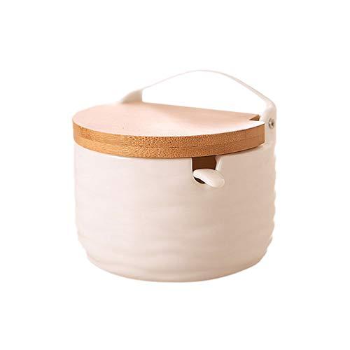 1 Stück Gewürzglas Zuckerdose Mit Deckel Löffel Holz Salz Aufbewahrungsbox Küchenwerkzeug Von R-WEICHONG
