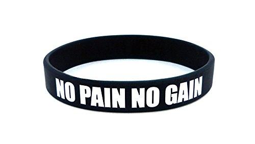 Fitness y Culturismo Pulsera No Pain No Gain Entreno Deporte Fitness Gimnasio Estilo de Vida CrossFit Accesorios Silicona Goma Cinta Elástica Unisexo Nuevo