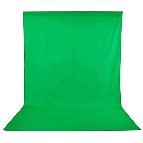 Andoer 5 x 10ft Chromakey Green/Blue Bi-Color Photography Backdrop Screen Washable Polyester-Cotton with 3pcs Backdrop Clamps for Studio Photo Video