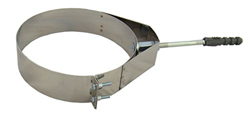 Rohrschelle zur Wandbefestigung PREMIUM+ verstärkt, Edelstahl EW, verschiedene Durchmesser 100, 110, 120, 125, 130, 140, 150, 160, 180, 200, 220, 250 mm (100)