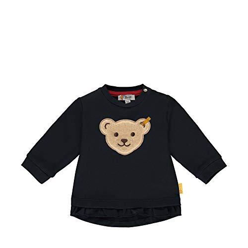 Steiff Baby-Mädchen Sweatshirt, Blau (Black Iris 3032), 62 (Herstellergröße: 062)