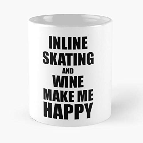 Hobbies Wine Fan Inline Skating Funny Lover Best 11 Ounce Ceramic Coffee Mug