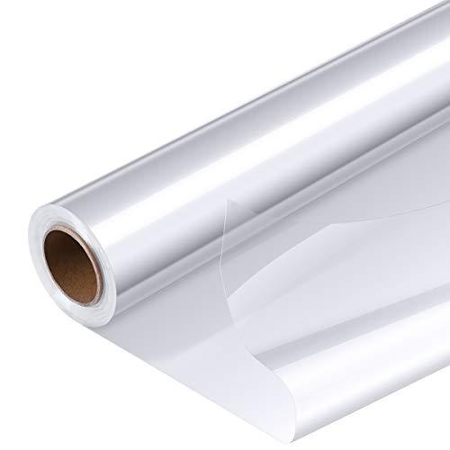 Papel Celofán Transparente Rollo para Envolver Cestas de Regalo, Papel de Regalo, Papel de Flores, Papel de Cristal Longitud después de doblar por la mitad 40 cm * 30 m