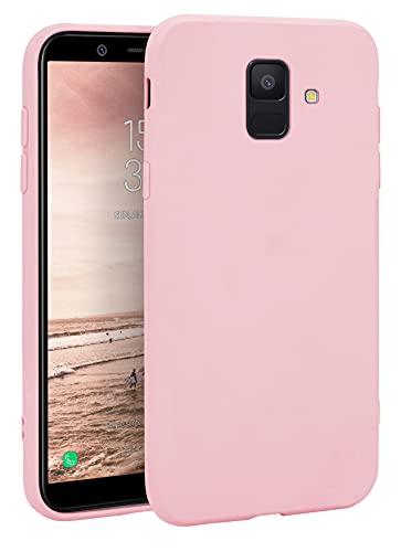 MyGadget Coque Silicone pour Samsung Galaxy A6 2018 - Case TPU Souple & Soft - Cover Protection Extra Fine & Légère - Étui Coloré Anti Choc et Rayures - Rose