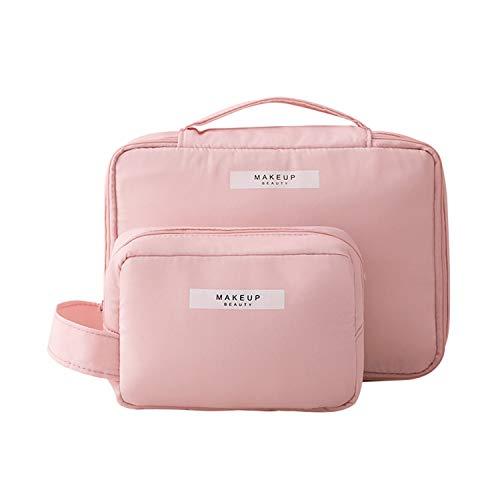 2 Pieces Makeup Bag Travel Toiletry Bag Organizer,Waterproof Multifunction Make-up Bags Portable Large Cosmetic